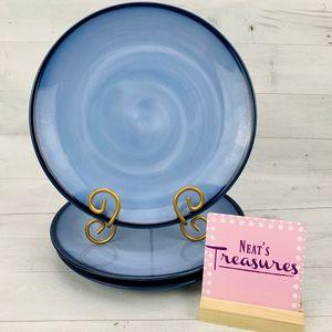 Sango NOVA BLUE 4934 Indigo Denim Blue Rim Plates